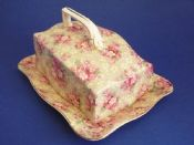 Lovely Crown Ducal 'Priscilla' Chintz Art Deco Cheese Dish c1925